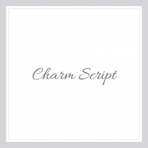 Charm Script Custom Text Wall Decal