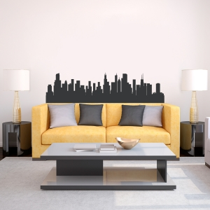 Chicago Illinois Skyline Vinyl Wall Art Decal