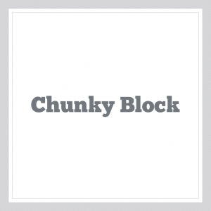 Chunky Block - Custom Text Wall Decal