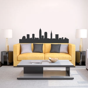 Cleveland Ohio Skyline Vinyl Wall Art Decal