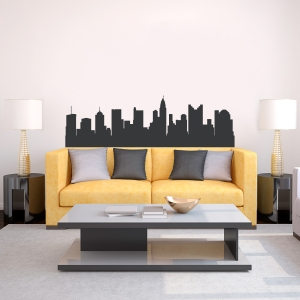 Columbus Ohio Skyline Vinyl Wall Art Decal