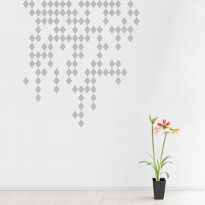 Raining Diamonds Wall Art Decal