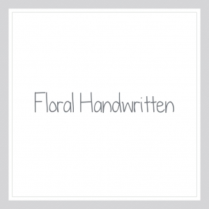 Floral Handwritten - Custom Text Wall Decal