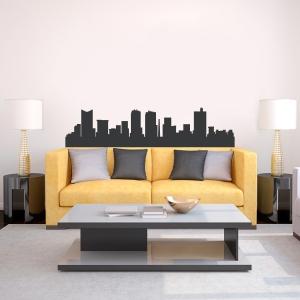 Fort Worth Texas Skyline Vinyl Wall Art Decal