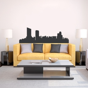 Grand Rapids Michigan Skyline Vinyl Wall Art Decal