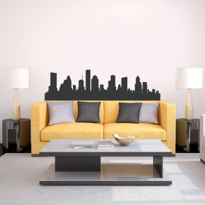Houston Texas Skyline Vinyl Wall Art Decal