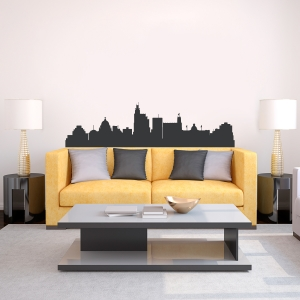 Jackson Mississippi Skyline Vinyl Wall Art Decal