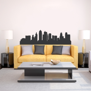 Kansas City Missouri Skyline Vinyl Wall Art Decal
