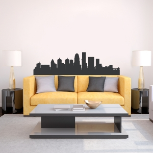 Louisville Kentucky Skyline Vinyl Wall Art Decal