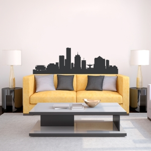 Milwaukee Wisconsin Skyline Vinyl Wall Art Decal