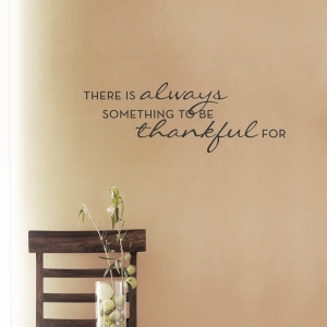 Always Thankful...Wall Art Decal