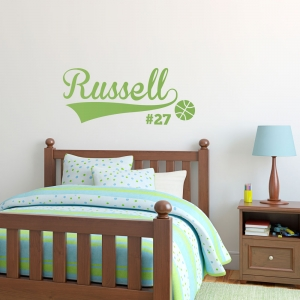Basketball Name Wall Art Decal