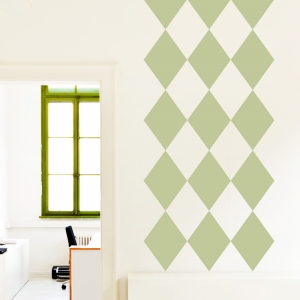 Harlequin Diamonds Wall Decal