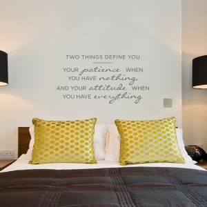 Two Things Define You Wall Quote Decal