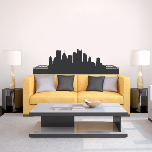 Pittsburgh Pennsylvania Skyline Vinyl Wall Art Decal