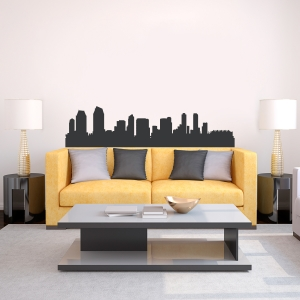 San Diego California Skyline Vinyl Wall Art Decal