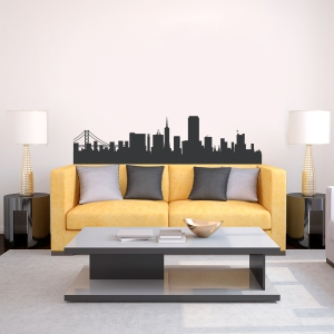 San Francisco California Skyline Vinyl Wall Art Decal