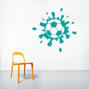 Muddy Soccer Ball Wall Art Decal