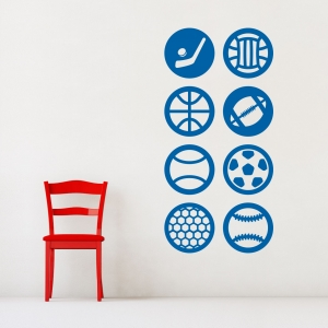 Sports Sticker Pack Wall Art Decal