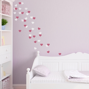 Heart-Fetti Wall Decal