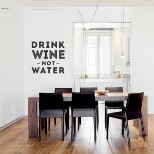 Drink Wine wall decal quote
