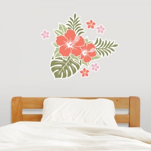 Hawaiian Flower wall decal