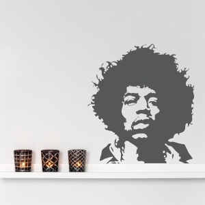 Jimi Hendrix wall decal