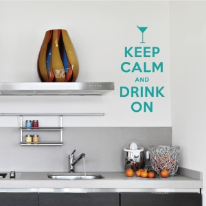 Keep calm and drink on wall decal
