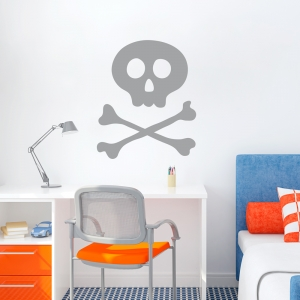 Skull & bones Wall Art Decal