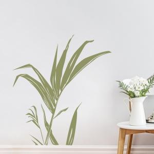 Palm leaf stem wall decal
