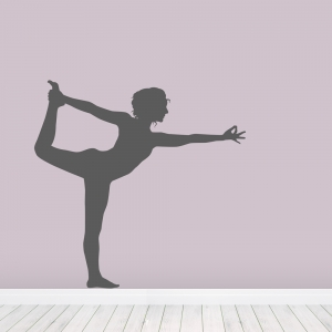 Yoga Dancer Wall Decal