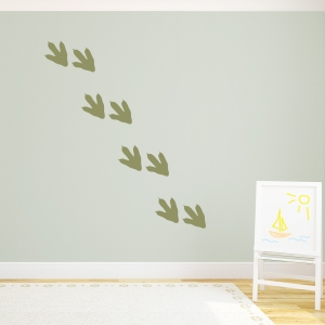 Dino foorprint wall decal