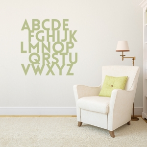 Alphabet Wall Art Decal
