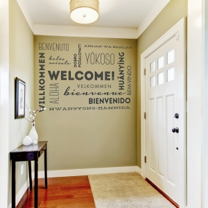 Welcome Wall Words Wall Quote Decal