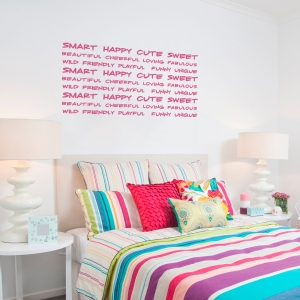 Adjectives For Girls Wall Quote Decal