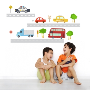 Transportation Fun Printed Wall Decals