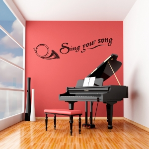 Sing Your Song Wall Quote Decal