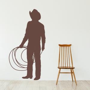 Roping Cowboy Wall Art Decal
