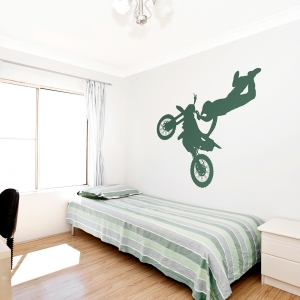 Motocross Indian Air Grab Wall Decal