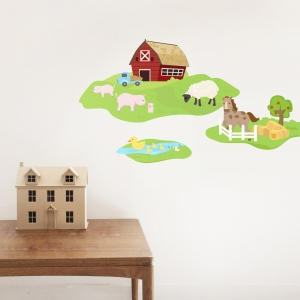 Barn Family Printed Wall Decal