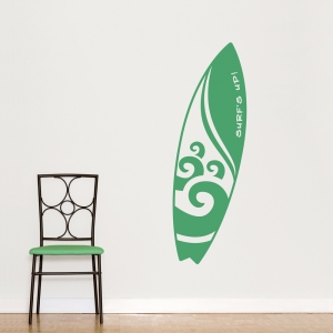 Wave Surfboard Wall Decal