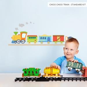 Choo Choo Train Fun Printed Wall Decals Standard