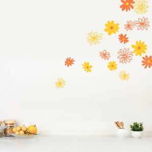 Daisy Flowers Wall Art Decal