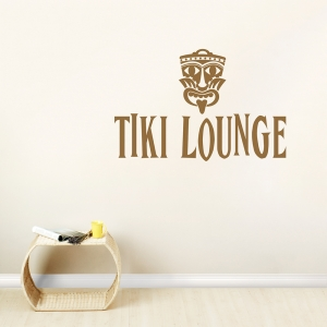 Tiki Lounge Wall Art Decal
