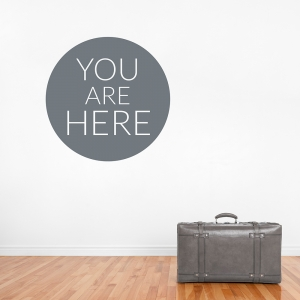 You Are Here Wall Decal