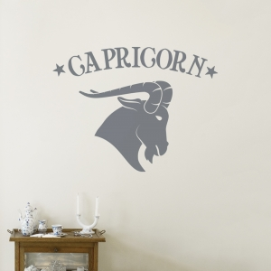 Capricorn Zodiac Sign Wall Decal