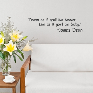 Dream As If...Wall Quote Decal