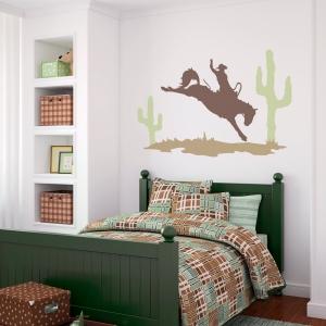 Desert Cowboy Wall Art Decal