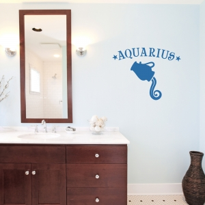 Aquarius Zodiac Sign Wall Decal