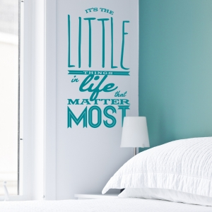 The Little Things In Life Wall Quote Decal